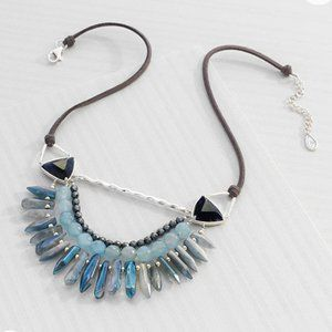 SILPADA NATURAL STONES STERLING SILVER + CORD
